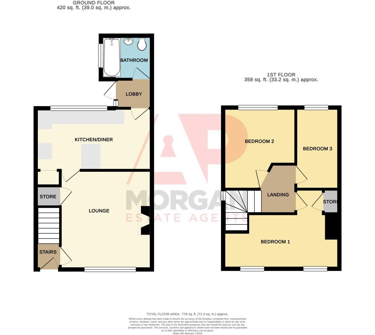 3 bed house for sale in Cobnall Road - Property Floorplan