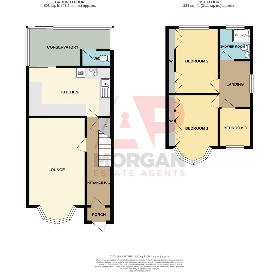 3 bed house for sale in Birch Road - Property Floorplan