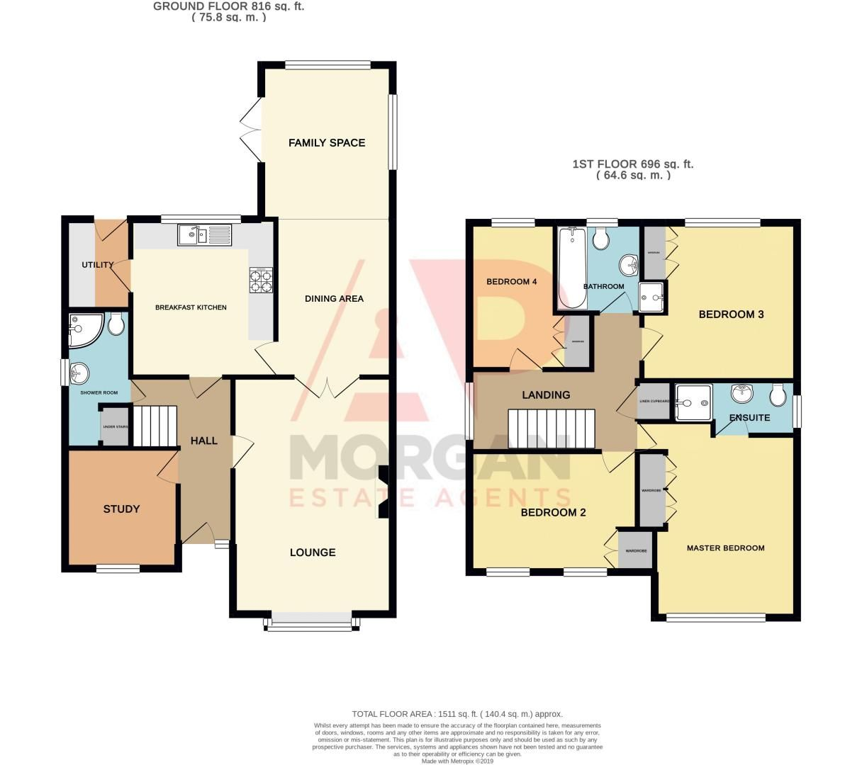 4 bed house for sale in Harris Close - Property Floorplan
