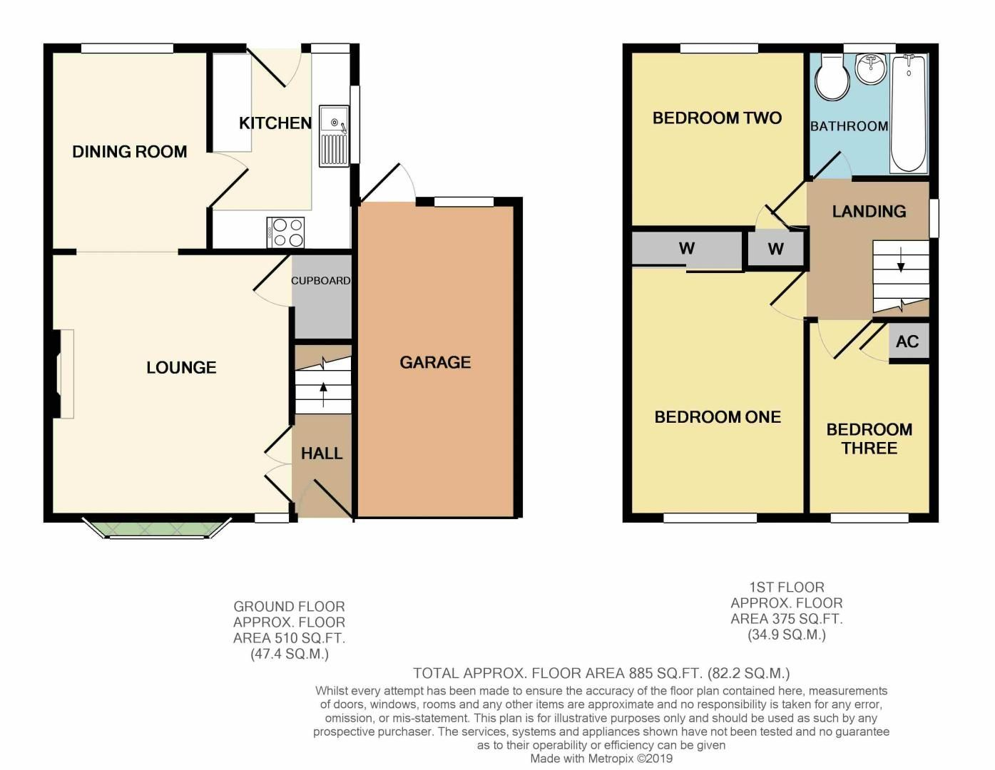 3 bed house for sale in Newent Close - Property Floorplan