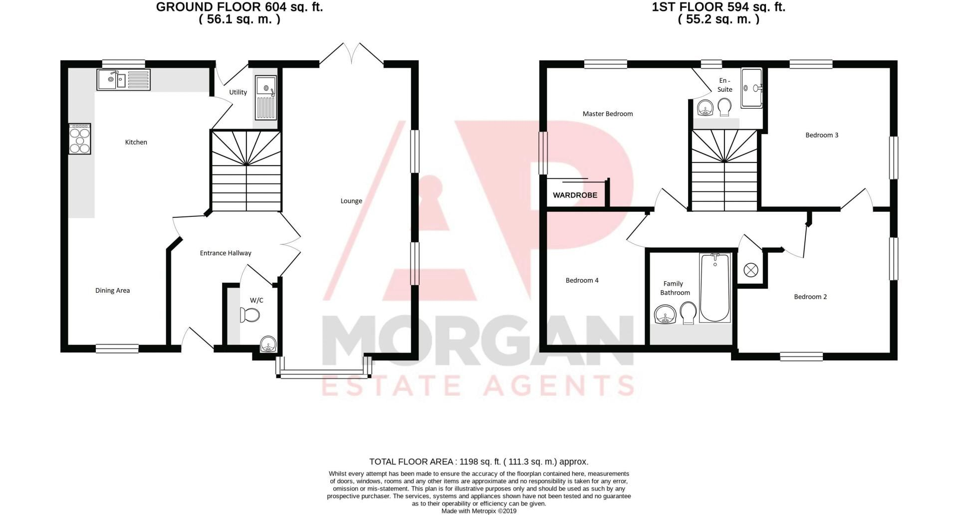 4 bed house for sale in Cowslip Close - Property Floorplan