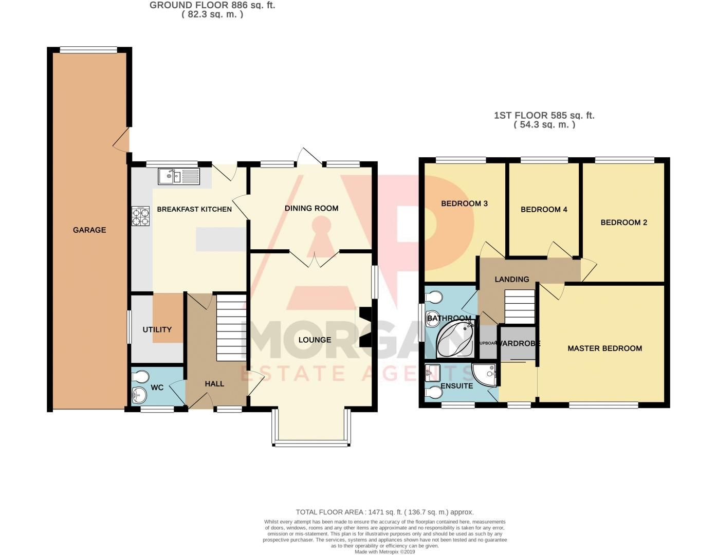 4 bed house for sale in Riverside Close - Property Floorplan