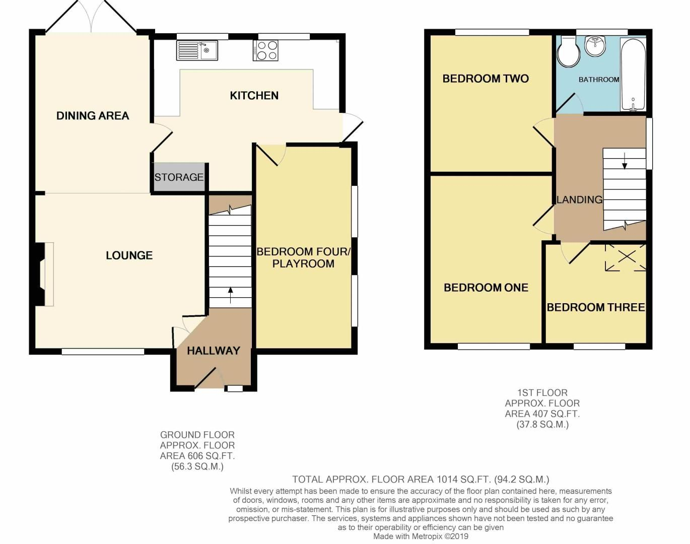 3 bed house for sale in Lassington Close - Property Floorplan