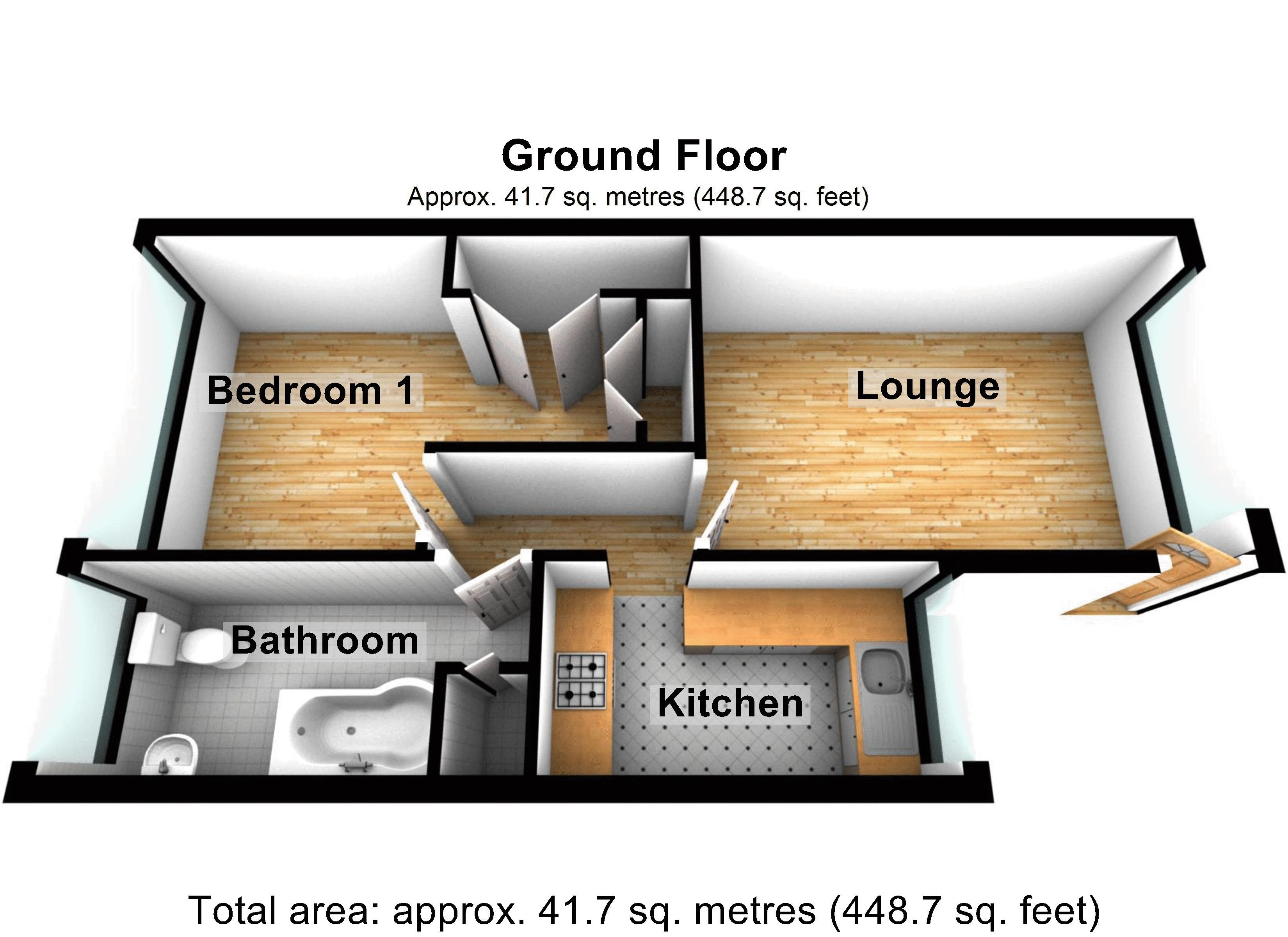 1 bed flat for sale in Prospect Hill - Property Floorplan