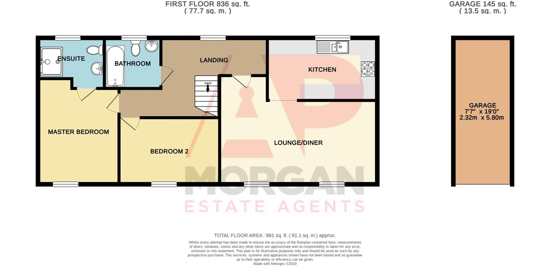 2 bed house for sale in Elrington Close - Property Floorplan
