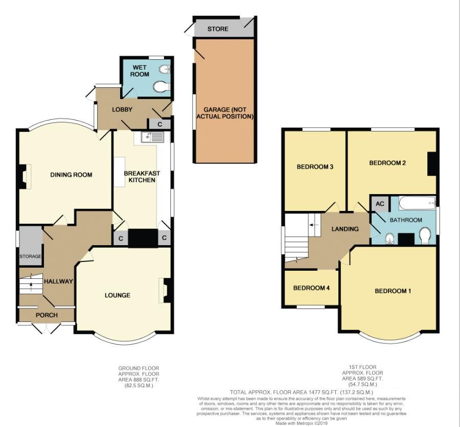 4 bed house for sale in Hagley Road - Property Floorplan
