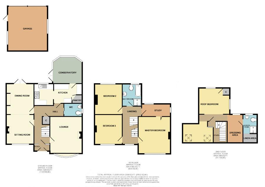 4 bed house for sale in Salop Road - Property Floorplan