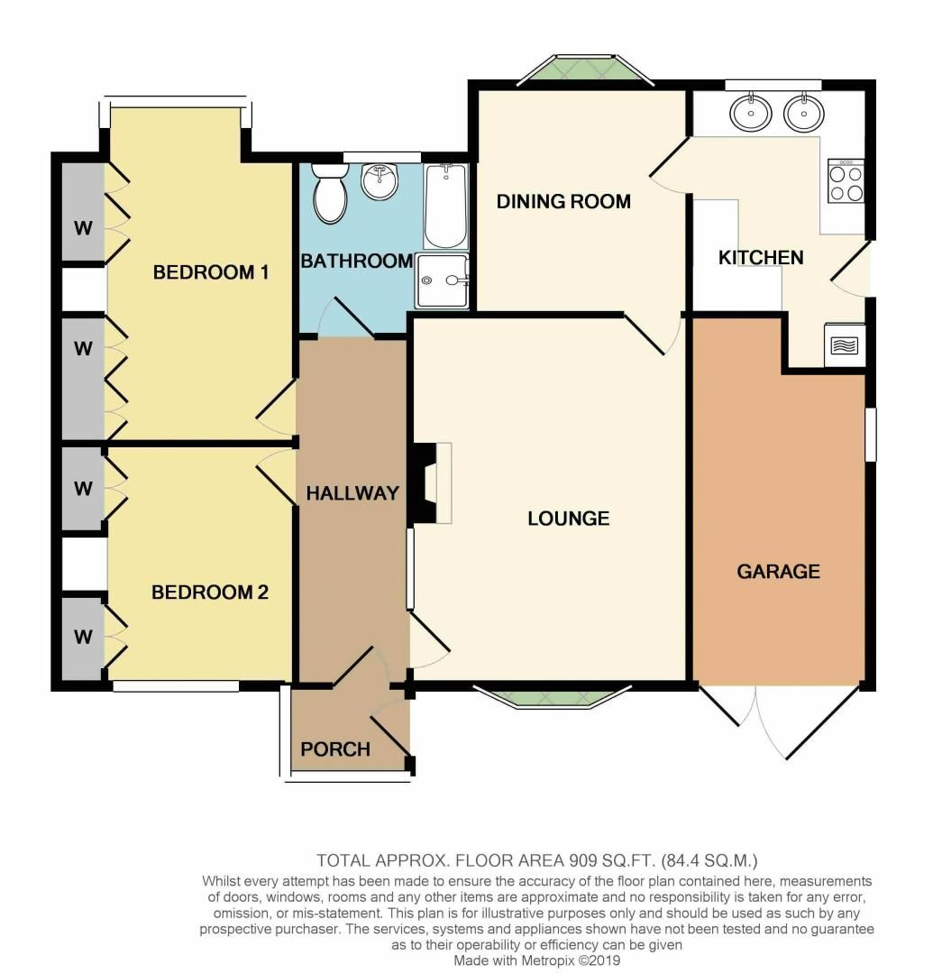 2 bed bungalow for sale in Stourton Crescent - Property Floorplan