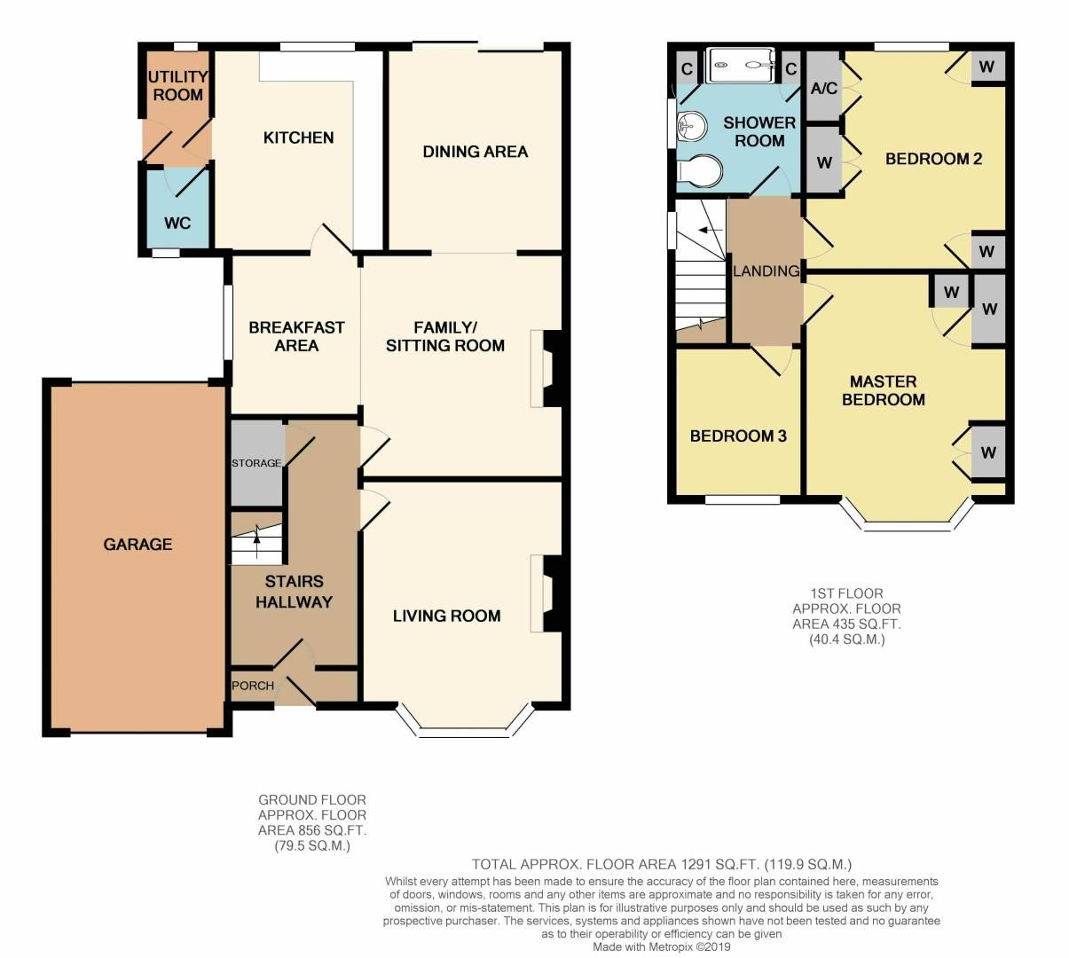 3 bed house for sale in Chequers Lane - Property Floorplan