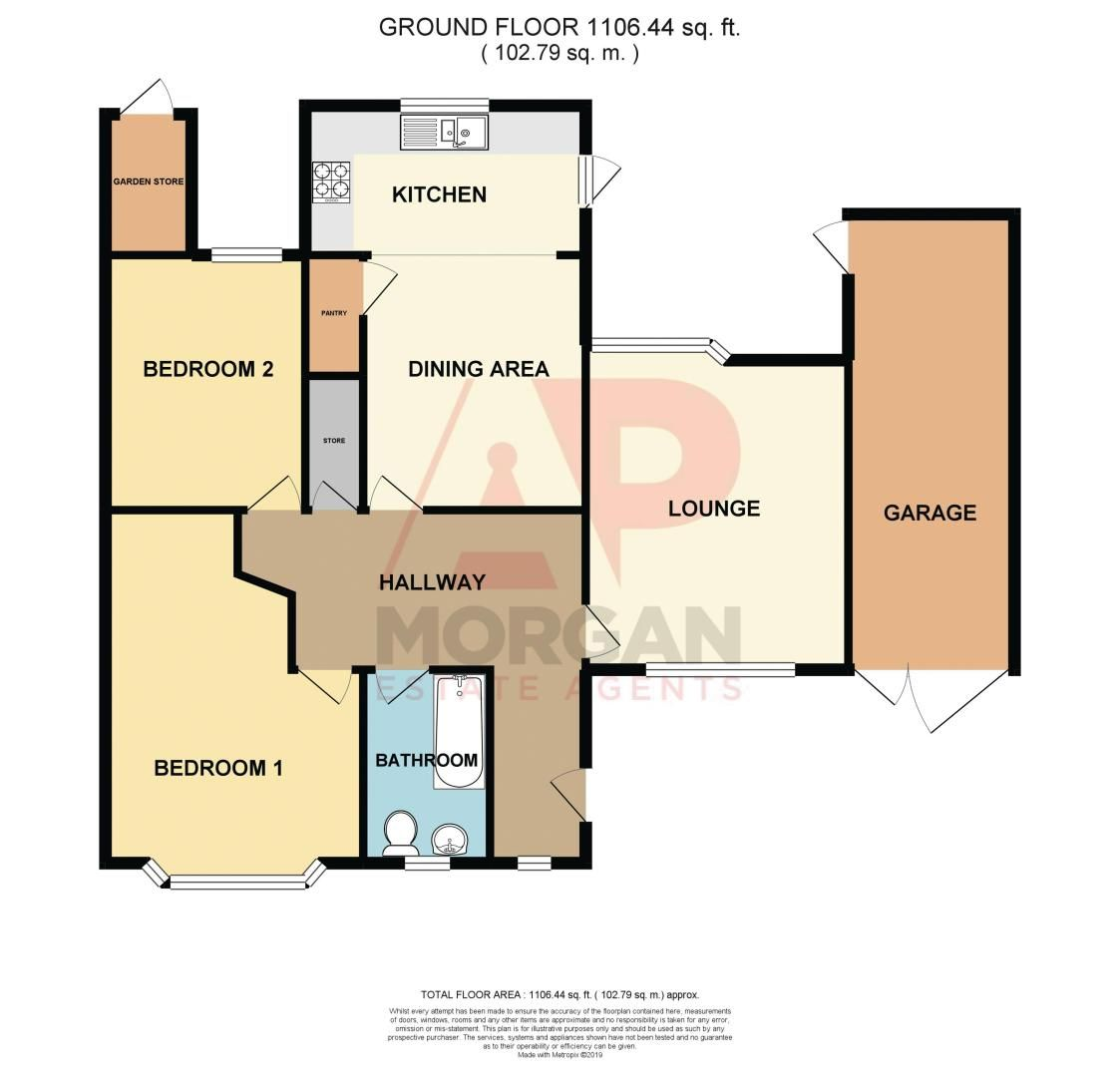 2 bed bungalow for sale in Duncombe Street - Property Floorplan