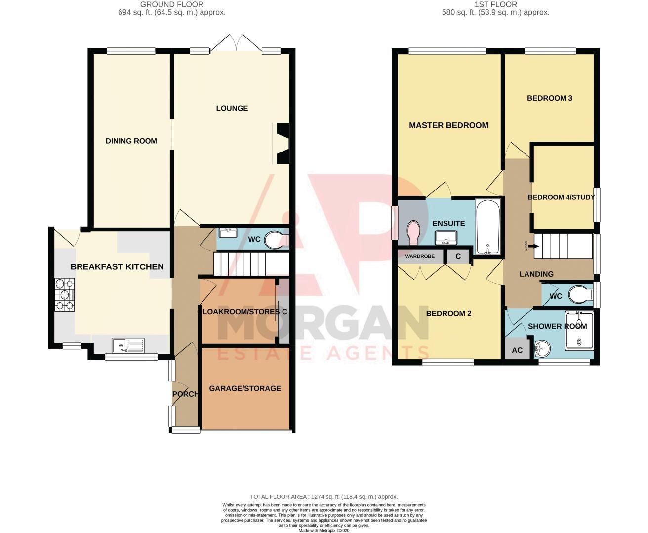 4 bed house for sale in Holmes Drive - Property Floorplan