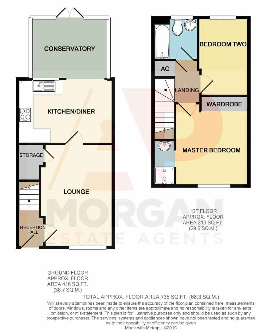 2 bed house for sale in Perryfields Close - Property Floorplan