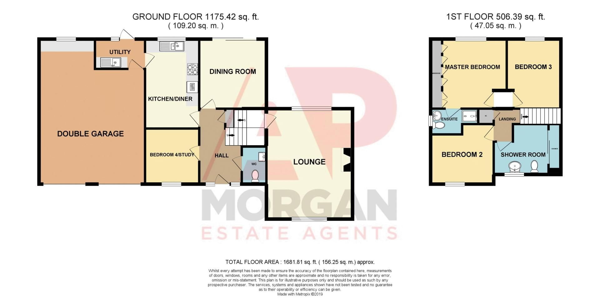 4 bed house for sale in Cornwell Close - Property Floorplan