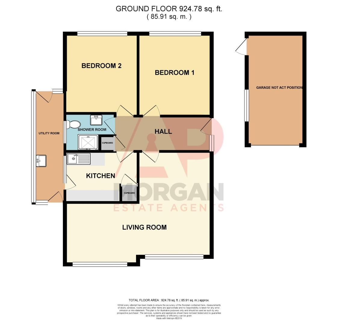 2 bed bungalow for sale in Manor Court Road - Property Floorplan
