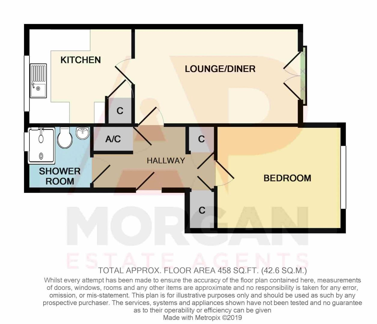1 bed flat for sale in Dolben Lane - Property Floorplan