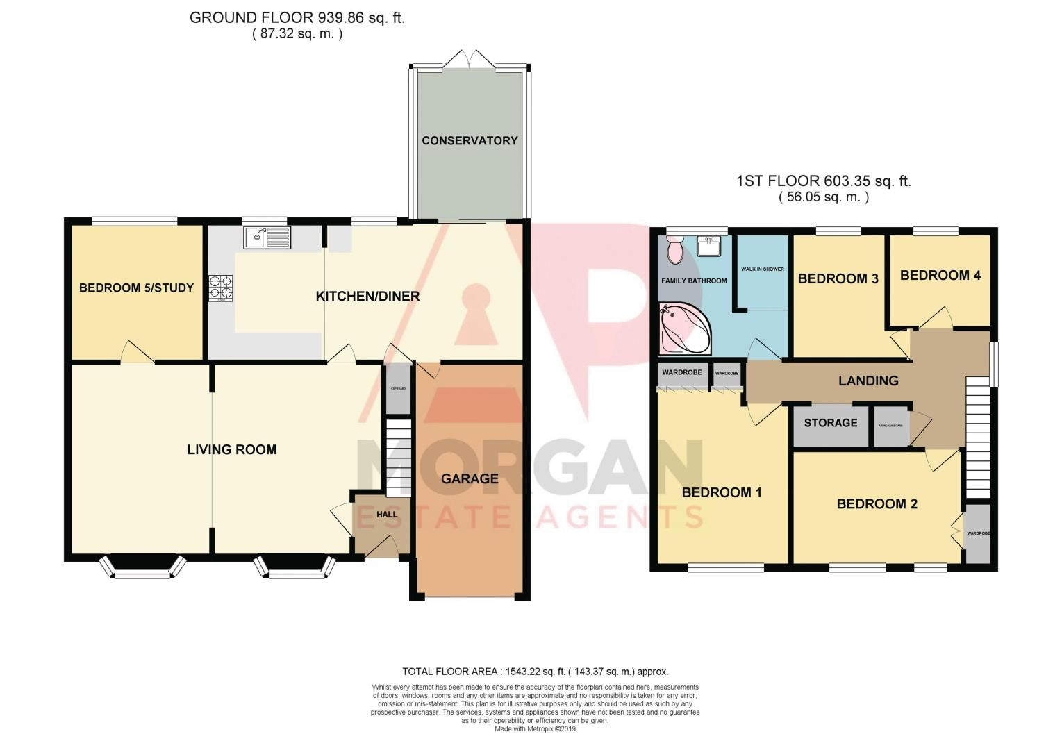 5 bed house for sale in Barbrook Drive - Property Floorplan