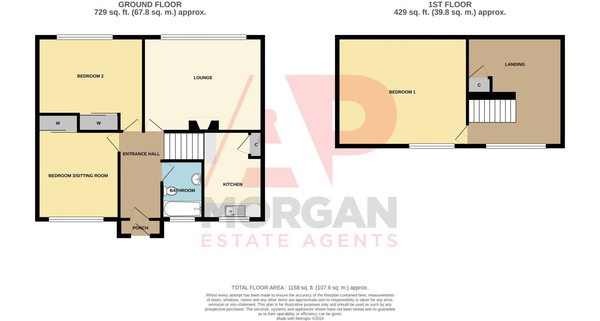 3 bed bungalow for sale in Lychgate Avenue - Property Floorplan