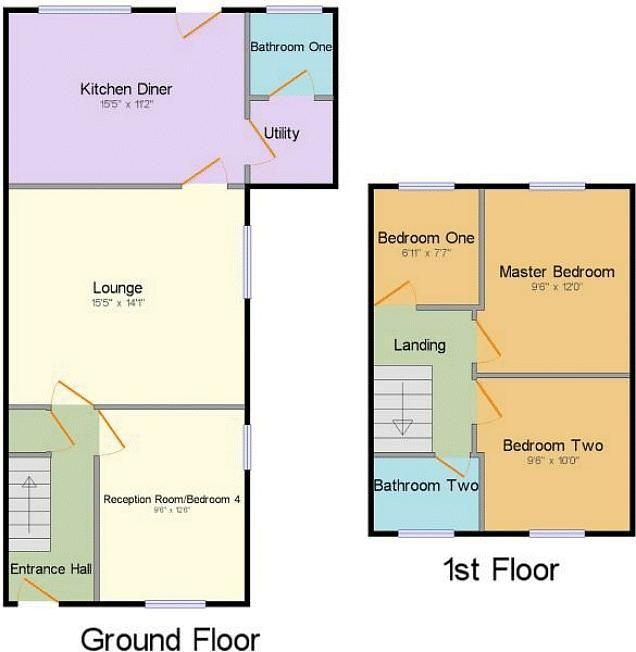3 bed house for sale in Cemetery Road - Property Floorplan