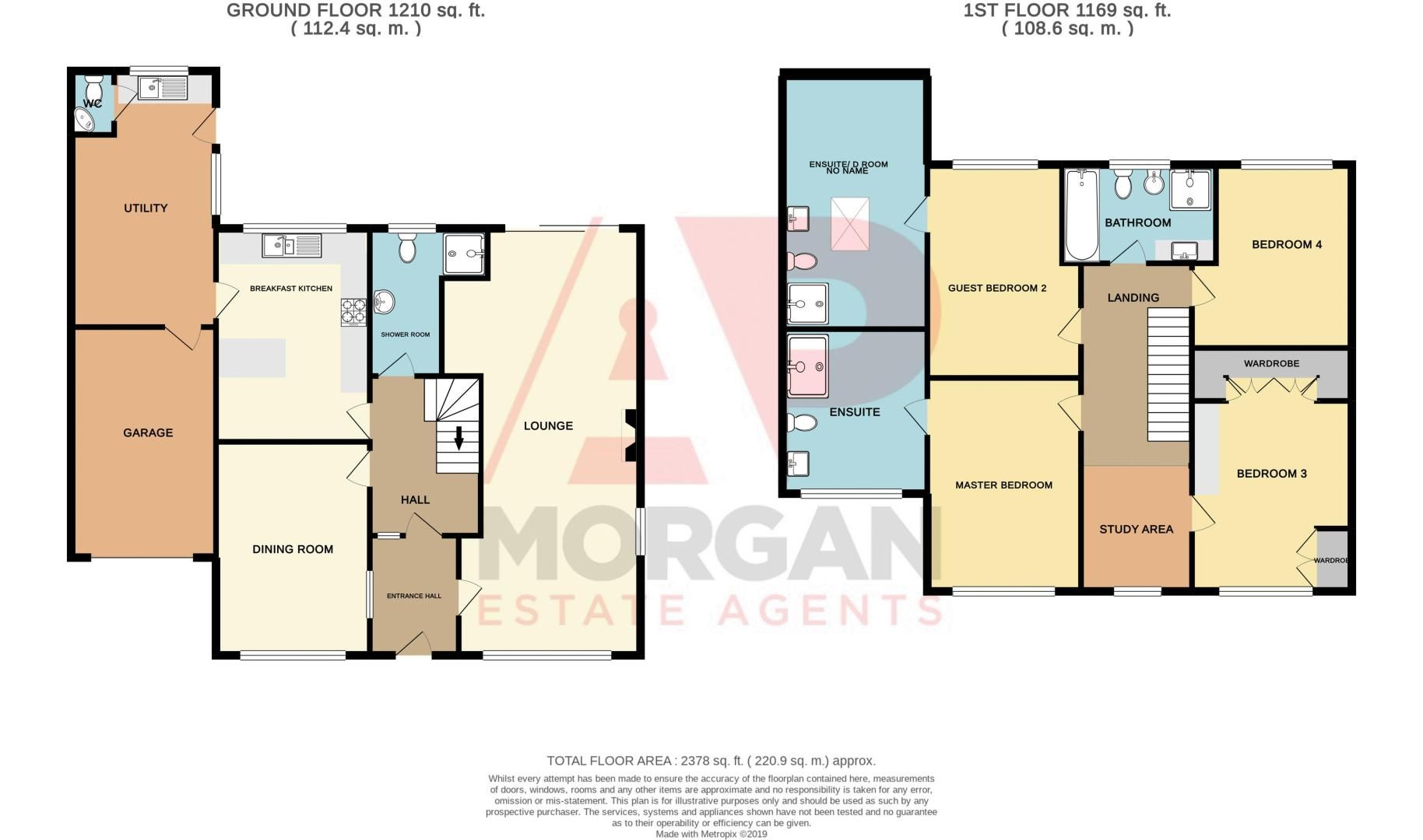 4 bed house for sale in The Ridgeway - Property Floorplan