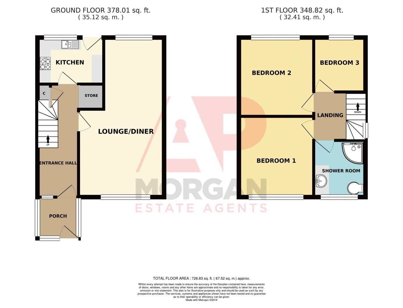 3 bed house for sale in Stamford Road - Property Floorplan