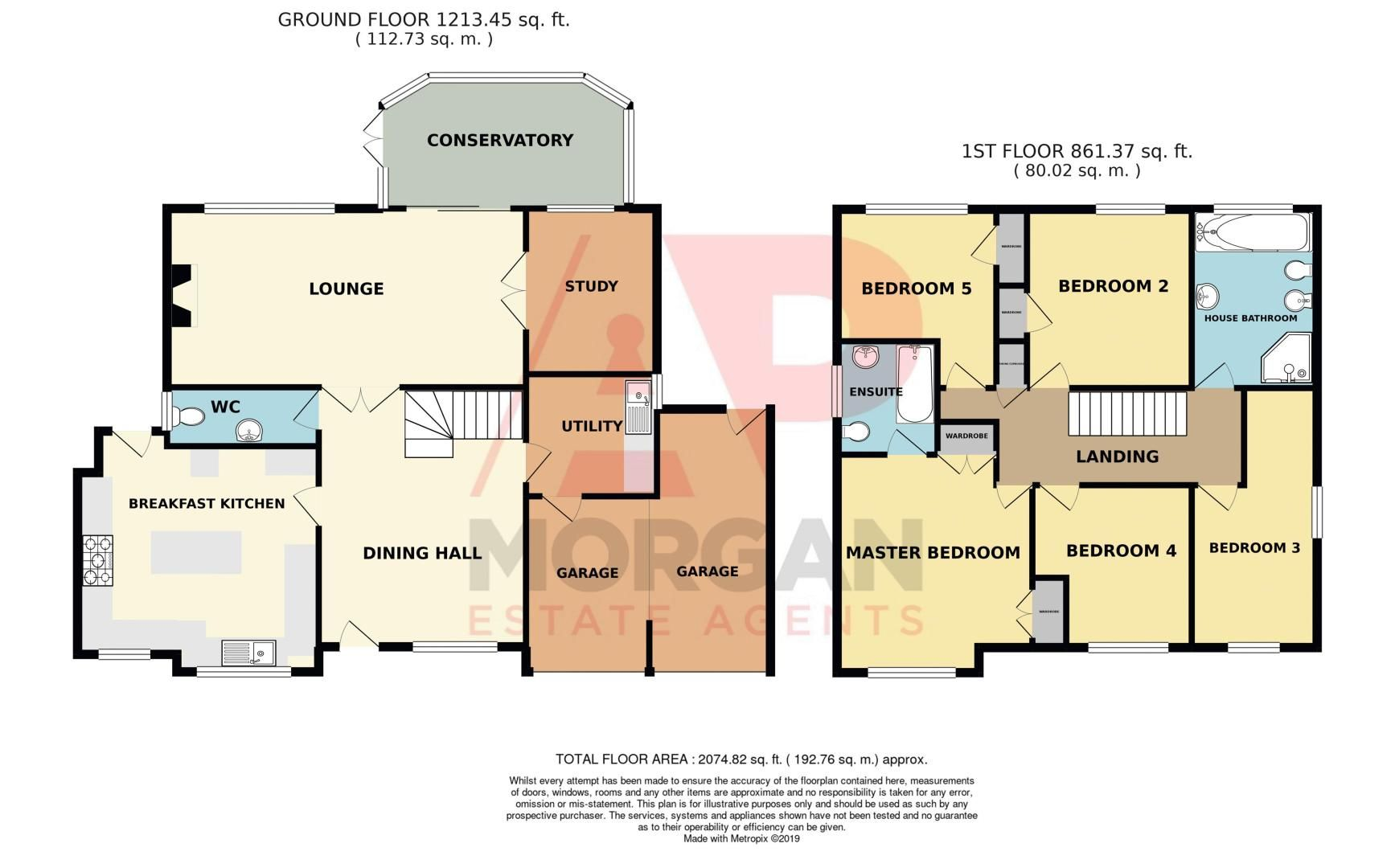 5 bed house for sale in Melrose Avenue - Property Floorplan