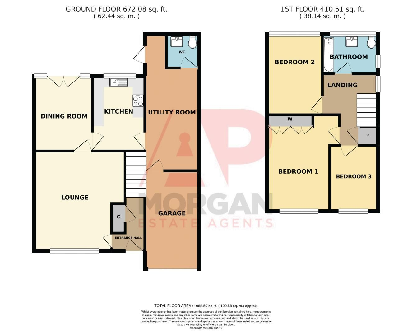 3 bed house for sale in County Park Avenue - Property Floorplan