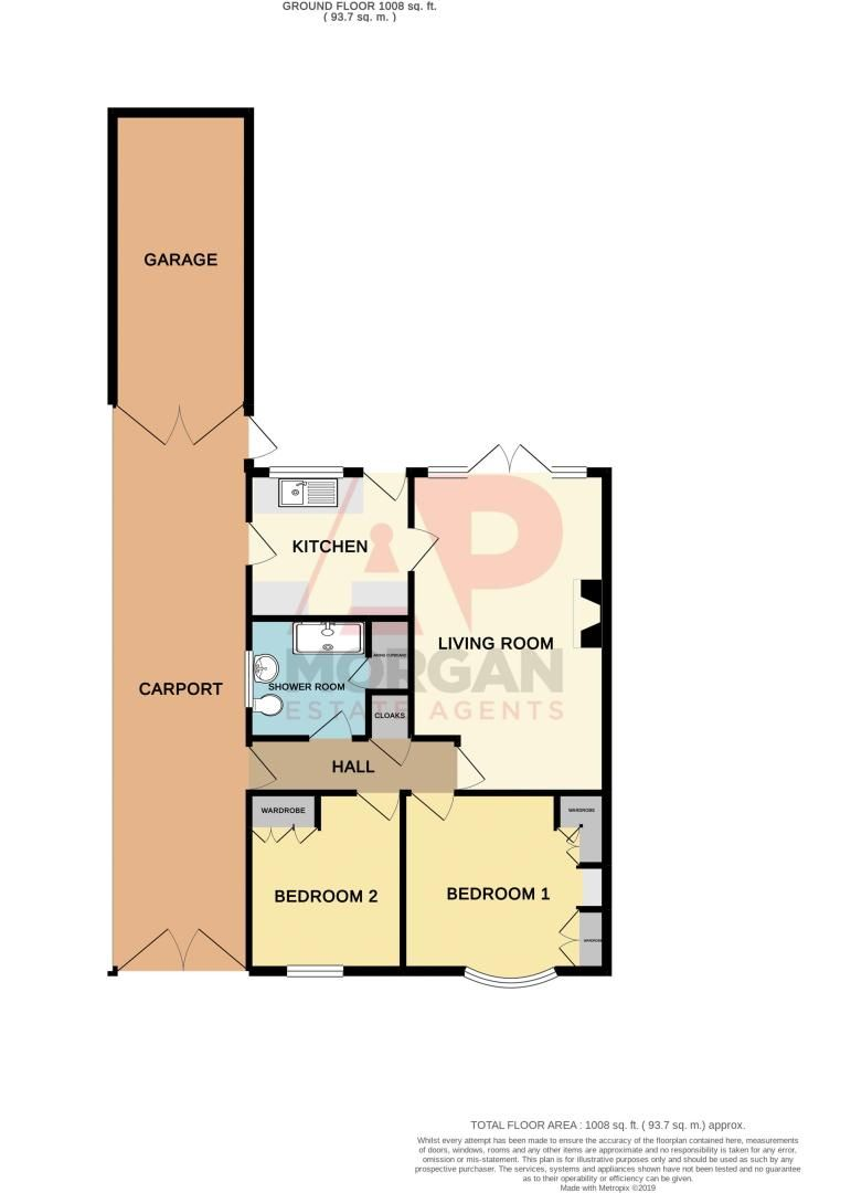 2 bed bungalow for sale in Quorn Crescent - Property Floorplan