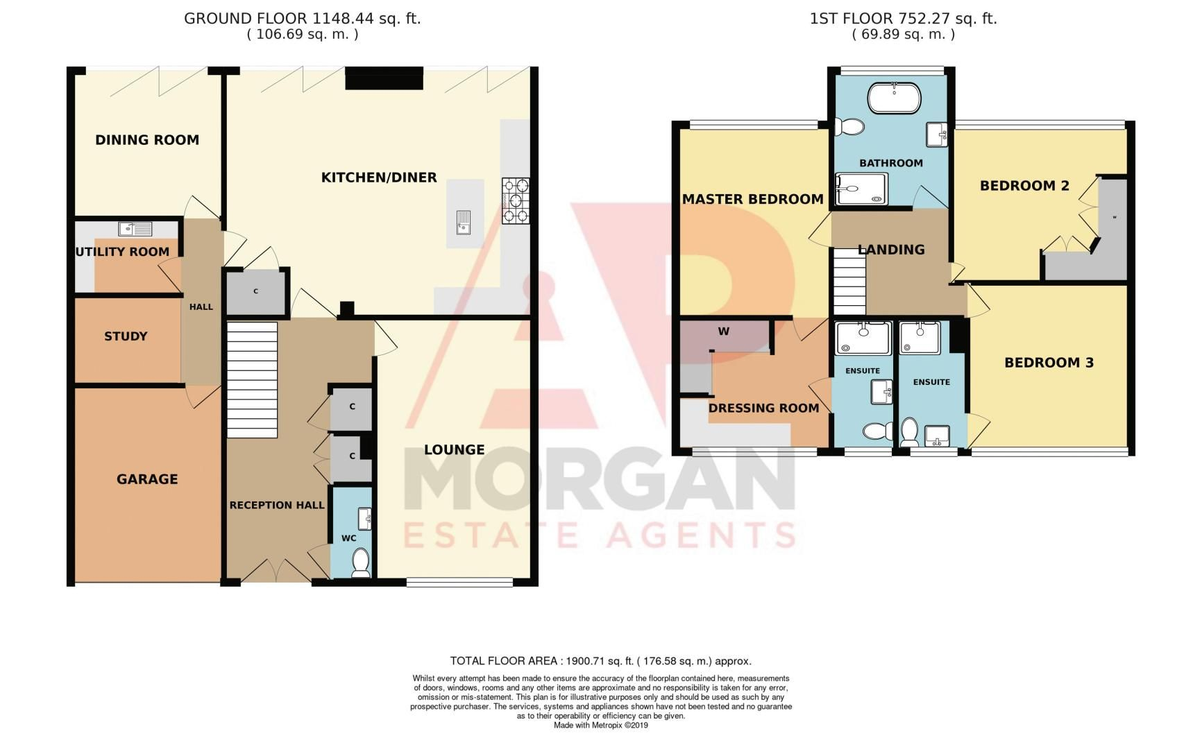 3 bed house for sale in Kent Road - Property Floorplan