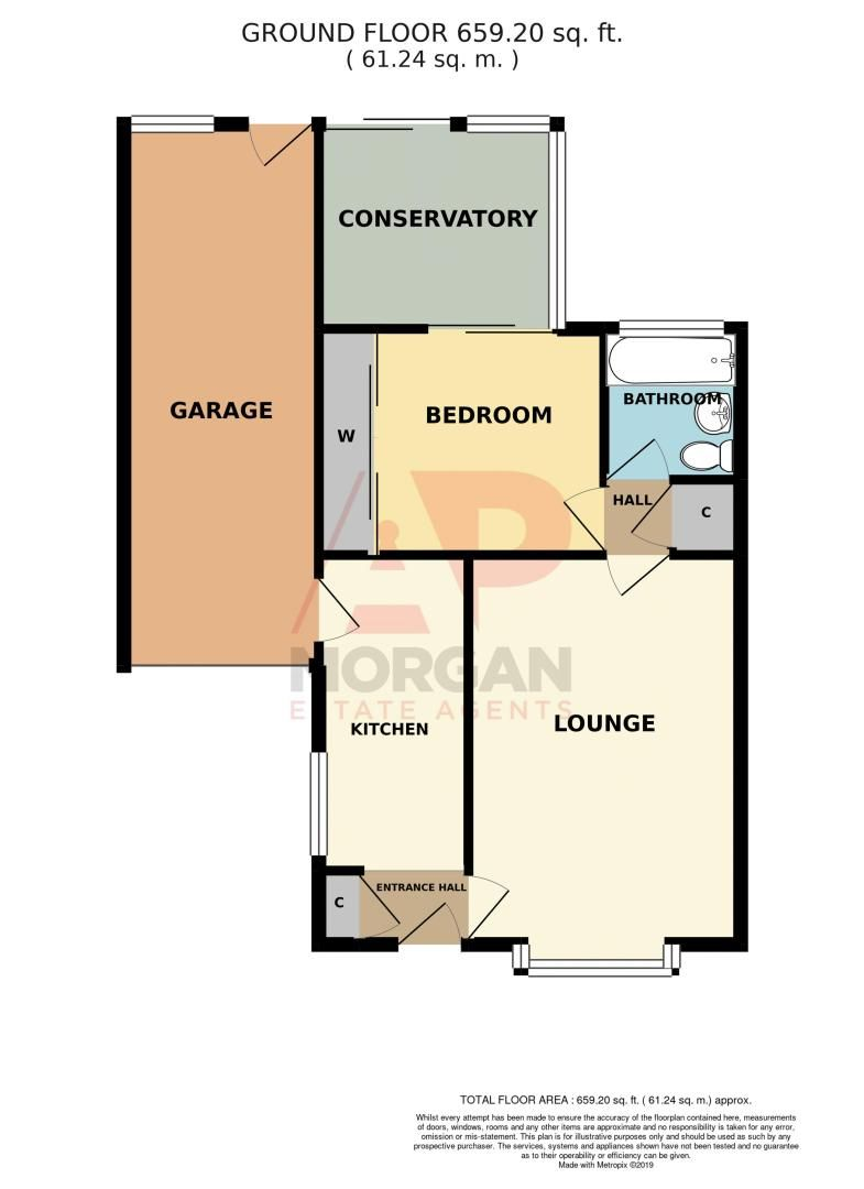 1 bed bungalow for sale in Meadow Park Road - Property Floorplan
