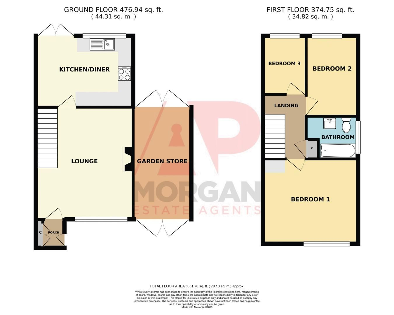 3 bed house for sale in Pippin Avenue - Property Floorplan