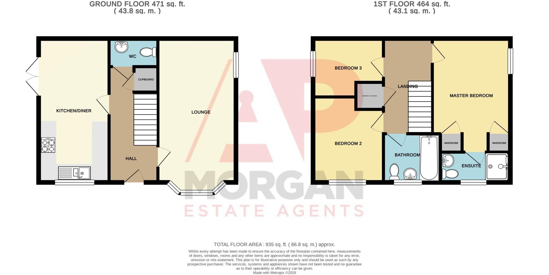 3 bed house for sale in Almondsbury Close - Property Floorplan