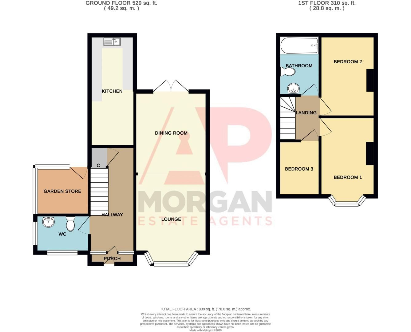 3 bed house for sale in Timberdine Close - Property Floorplan