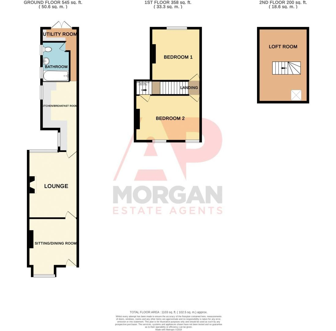 2 bed house for sale in Dudley Road - Property Floorplan