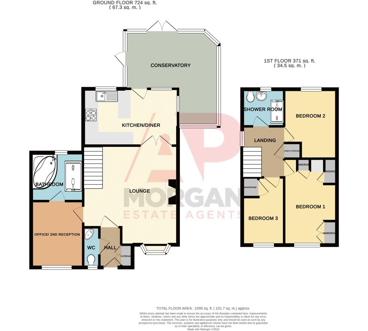 3 bed house for sale in Linnet Close - Property Floorplan