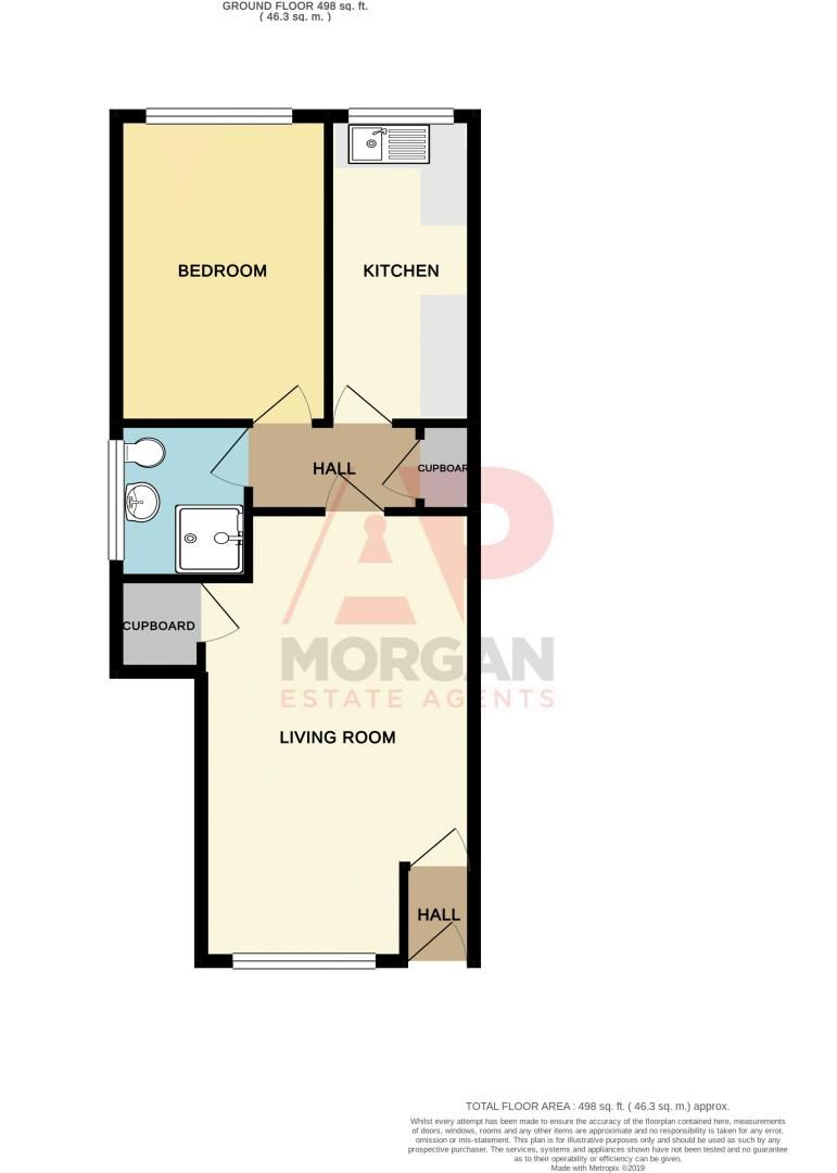 1 bed  for sale in Toys Lane - Property Floorplan