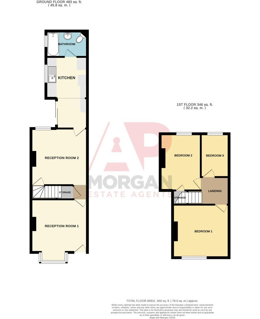 3 bed house for sale in Vicarage Road - Property Floorplan