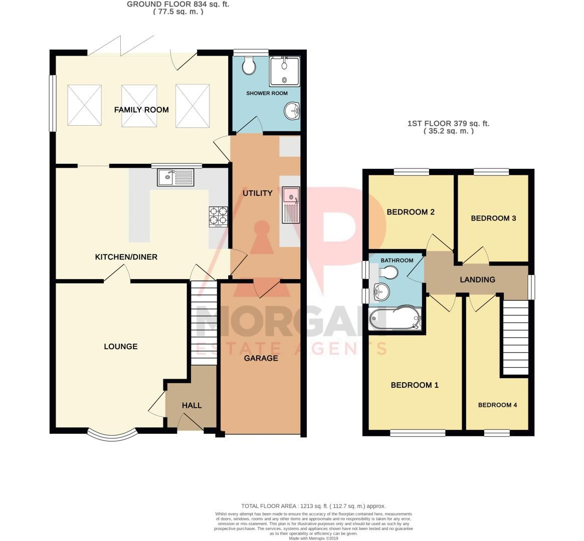 4 bed house for sale in Saxon Drive - Property Floorplan