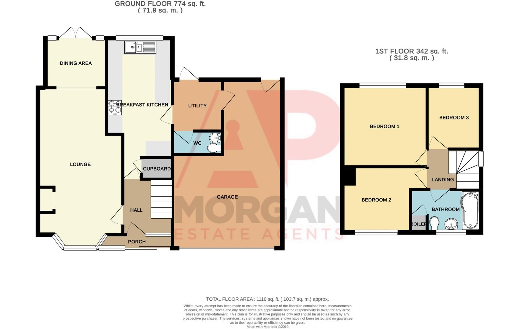 3 bed house for sale in Brierley Hill Road - Property Floorplan