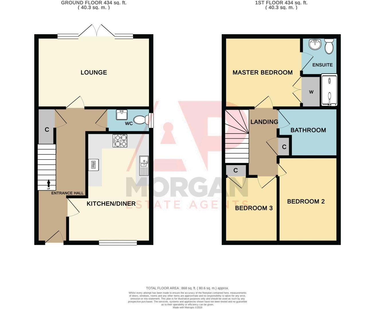3 bed house for sale in Wedgwood Avenue - Property Floorplan