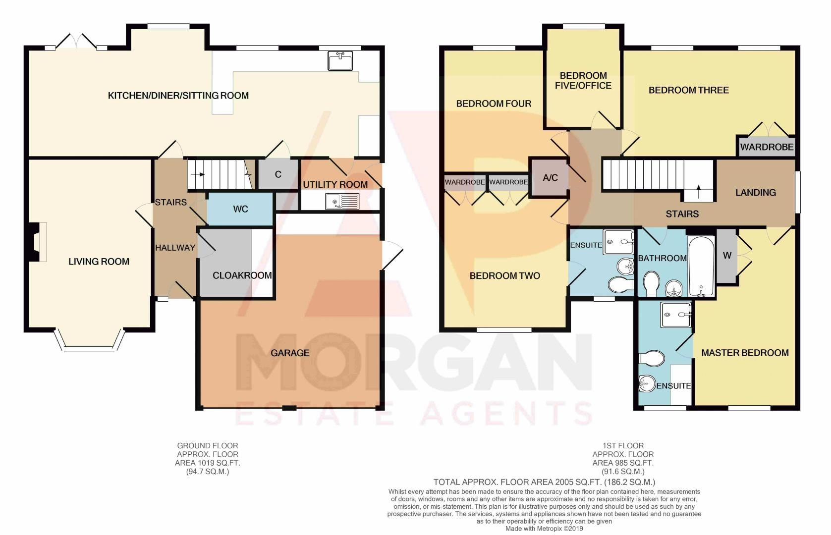 5 bed house for sale in Findon Close - Property Floorplan