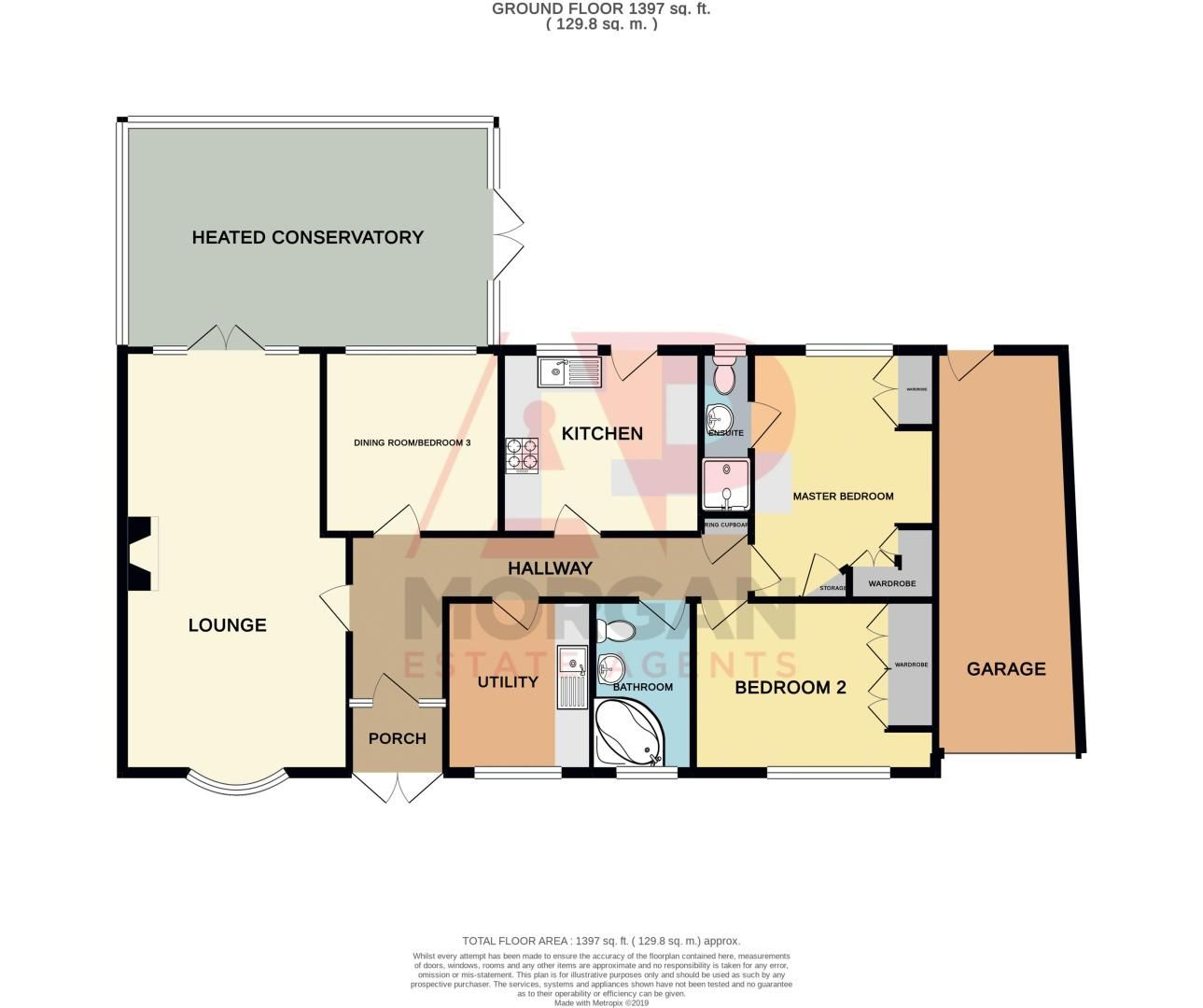 3 bed bungalow for sale in Church Lane - Property Floorplan