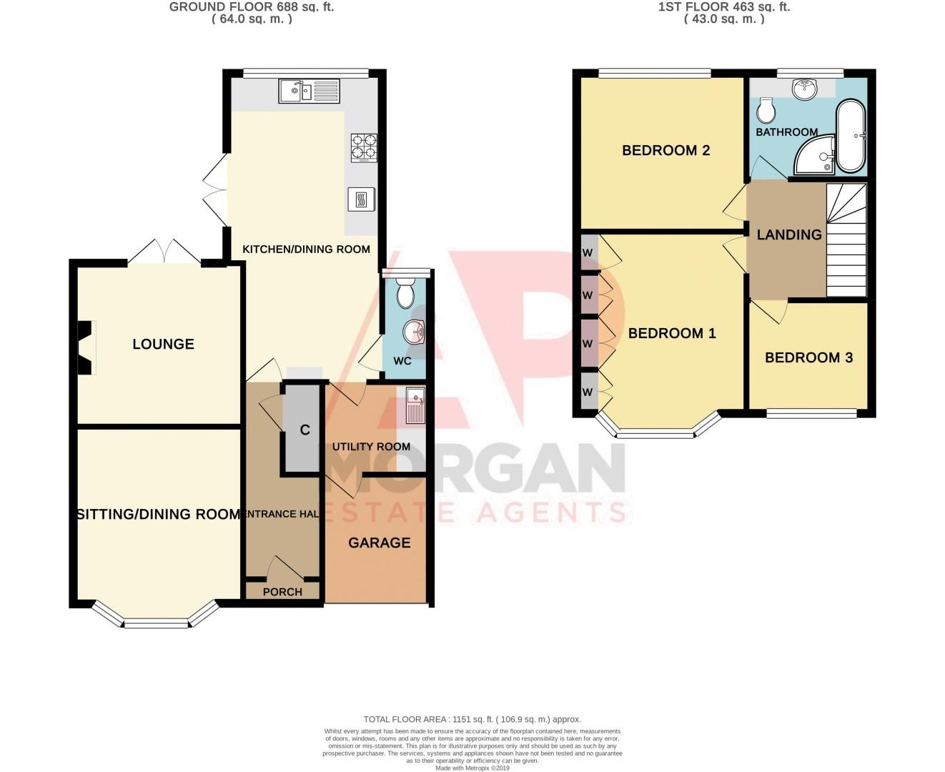 3 bed house for sale in Fallowfield Road - Property Floorplan