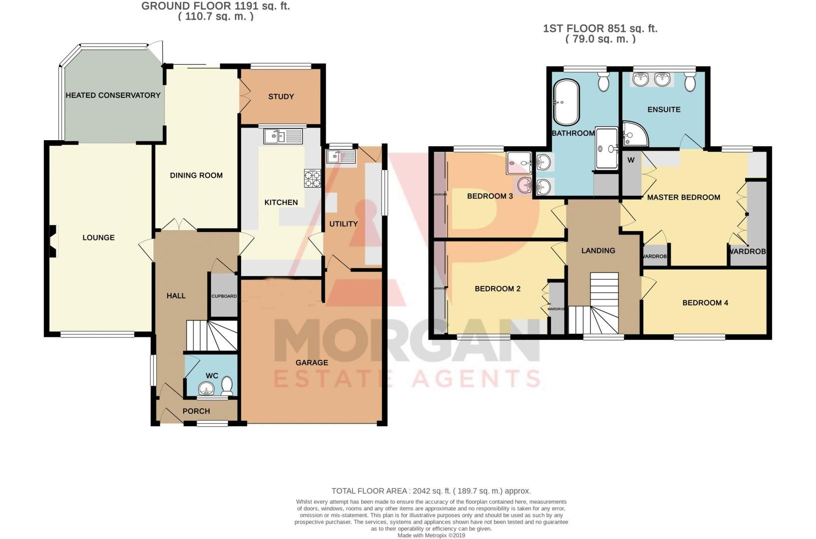4 bed house for sale in Illshaw Close - Property Floorplan