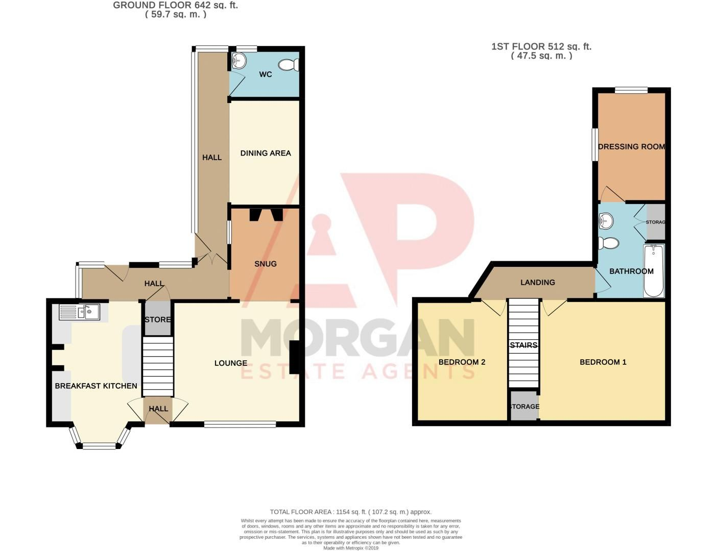 2 bed house for sale in Ross - Property Floorplan