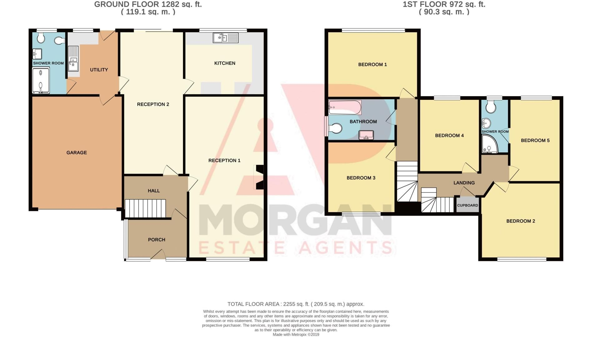5 bed house for sale in Vicarage Road - Property Floorplan