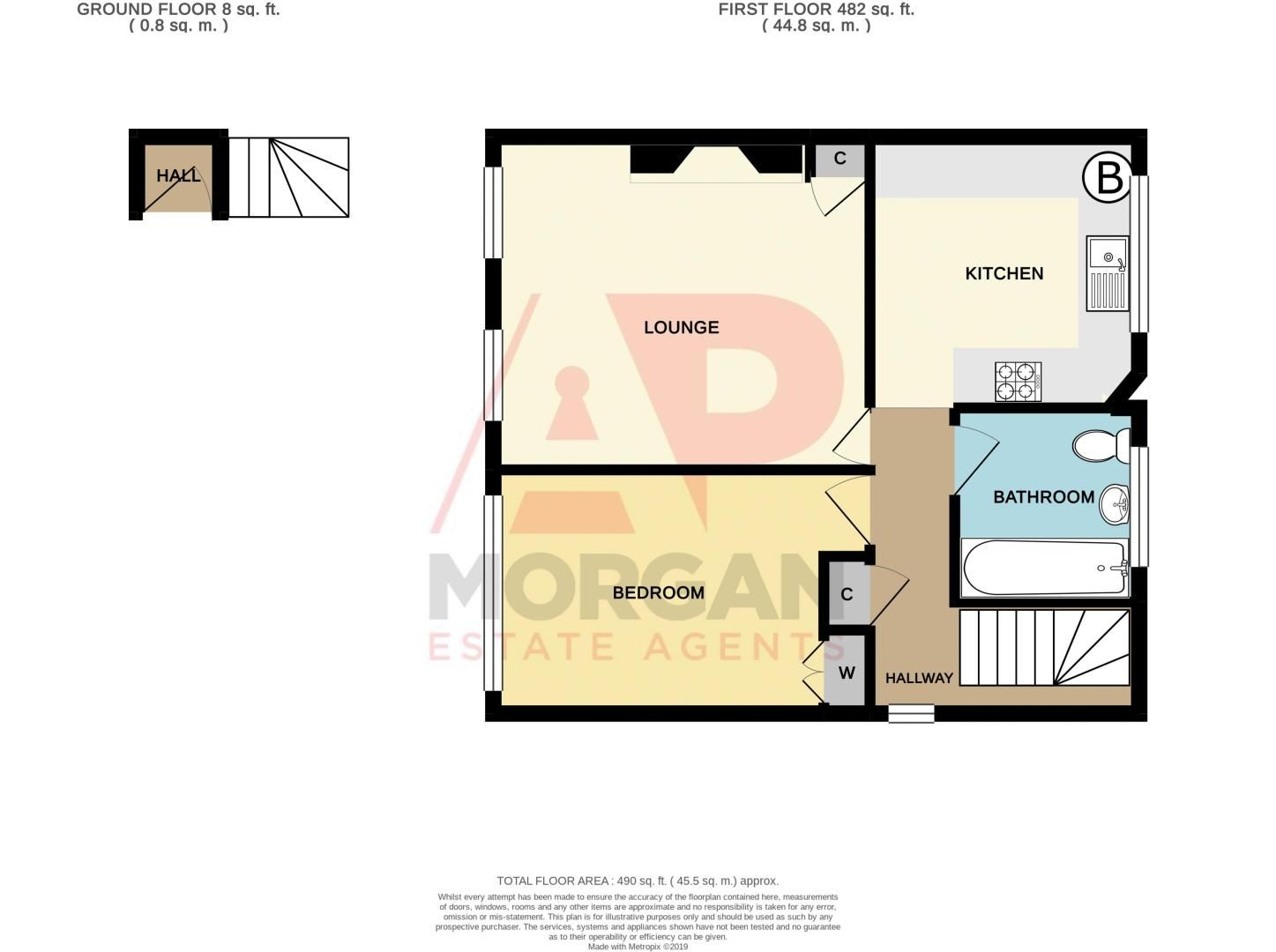 1 bed flat for sale in Cromwell Lane - Property Floorplan