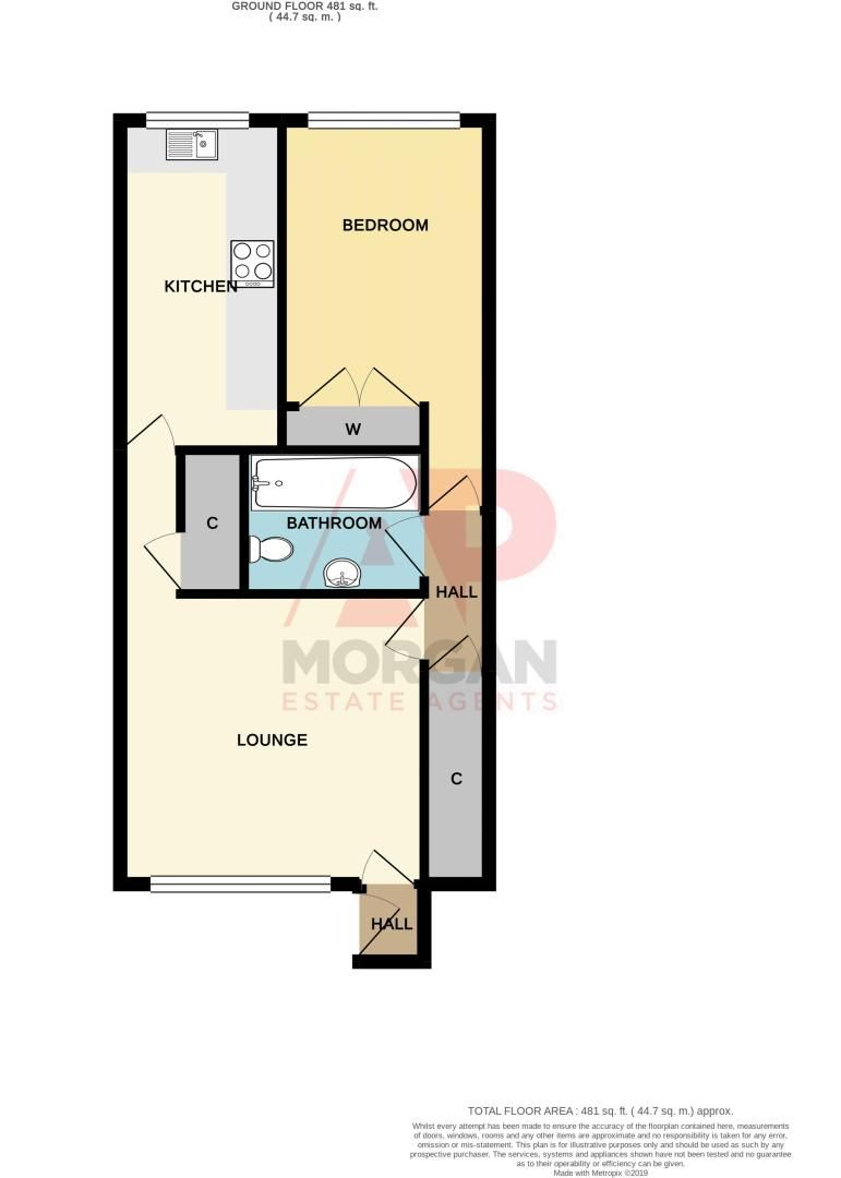1 bed  for sale in Apperley Way - Property Floorplan