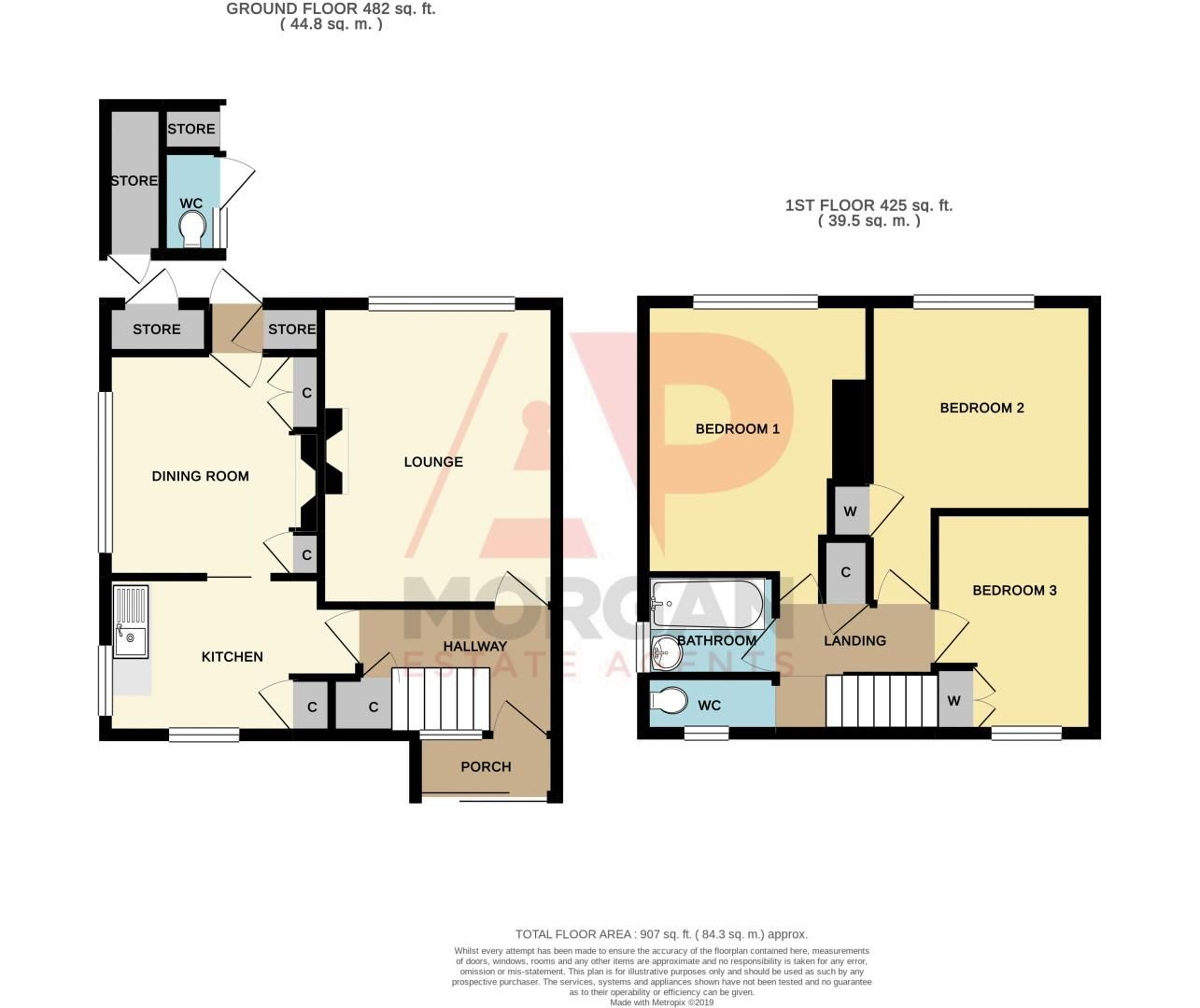 3 bed house for sale in Wall Well Lane - Property Floorplan