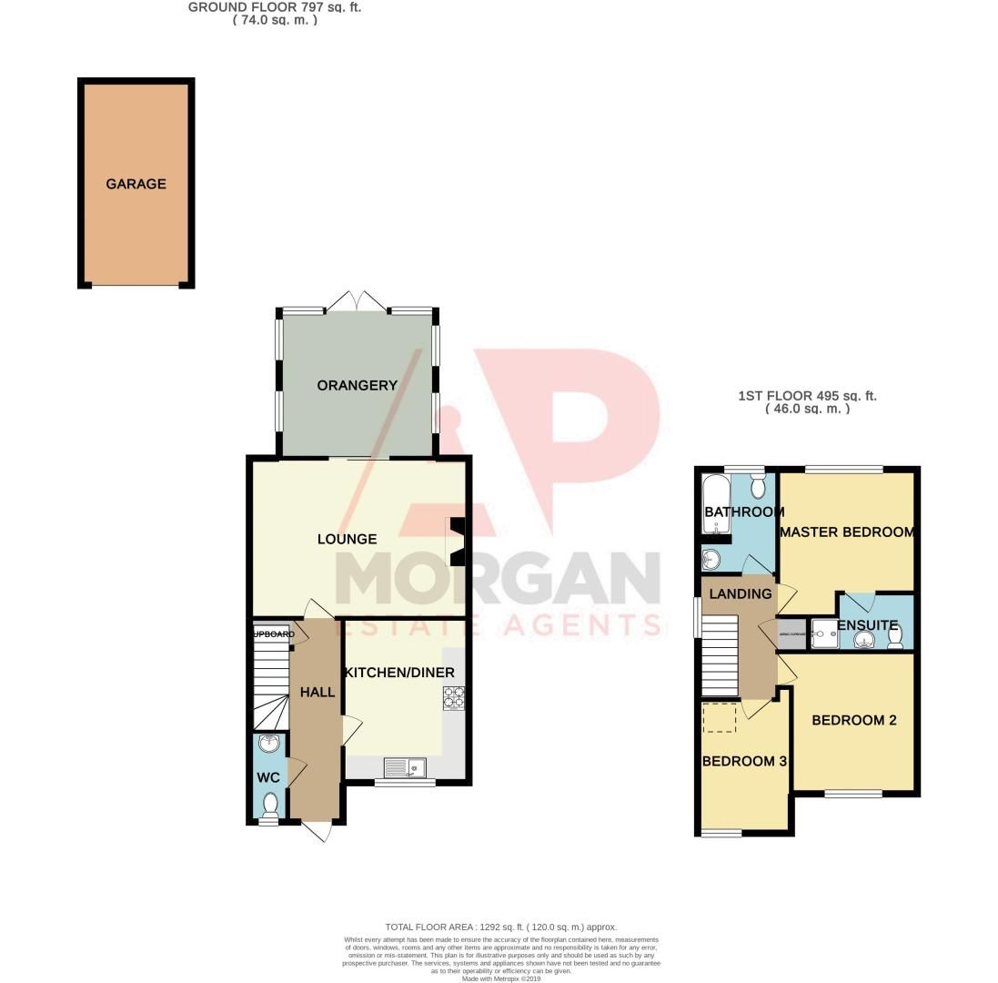 3 bed house for sale in Tromans Close - Property Floorplan