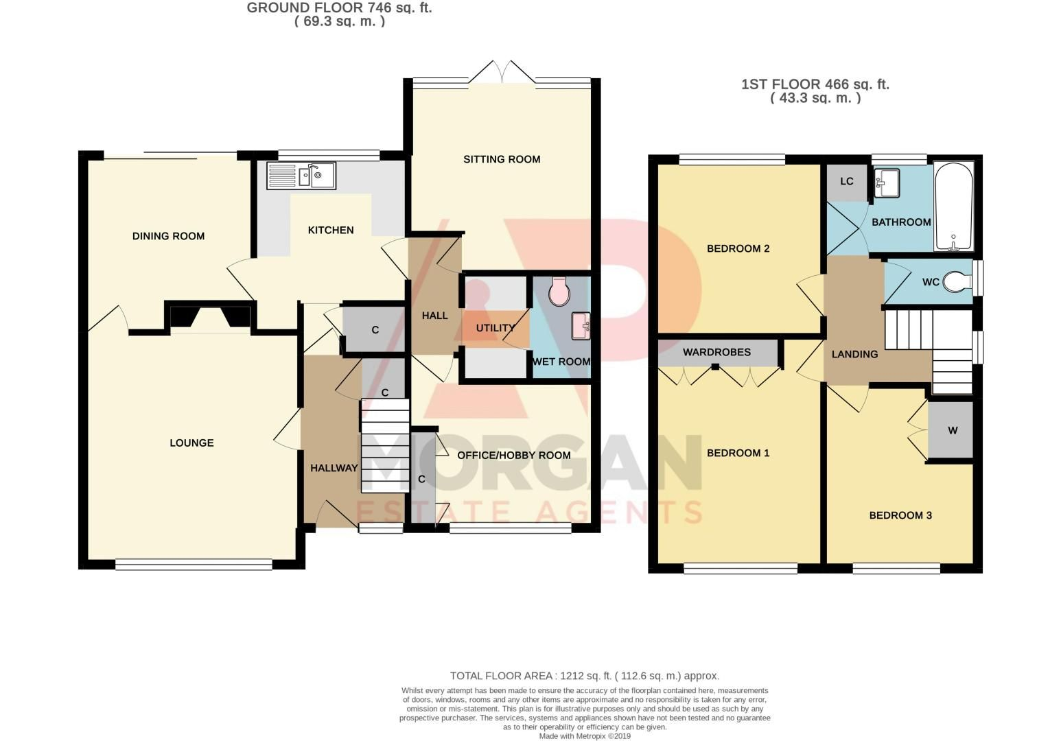 3 bed house for sale in Beverley Close - Property Floorplan